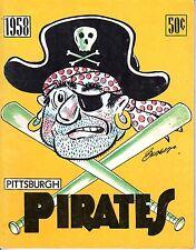 1958 Baseball Yearbook Pittsburgh Pirates, Roberto Clemente, Bill Virdon
