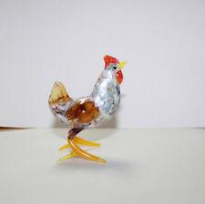 Hand Blown Glass Lamp Glass Murano Art Glass Rooster Figurine Hen #1