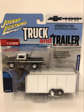 1965 Chevy Pickup with Enclosed Car Trailer 1:64 Scale JLBT007