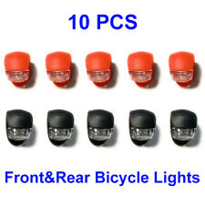 10Pcs Bicycle Light Front and Rear Silicone LED Bike Light Headlight Taillight