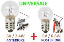 LAMPADINA BICI LUCE POSTERIORE + ANTERIORE 6V 0.6W + 2.4W E10 DINAMO BICICLETTA