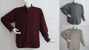 Hemd Langarm Arbeitshemd Freizeithemd Trekkinghemd Grau Beige Rot Gr M L XL XXL