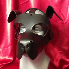 S A L E! WOOF! Leather puppy hood fetish role play costume dog mask floppy ears
