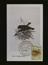 MALAGASY MK 1963 BIRDS VÖGEL VOGEL MAXIMUMKARTE CARTE MAXIMUM CARD MC CM c7006