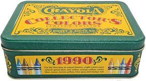 Vintage 1991 Crayola Tin Collectors Colors Limited Edition 72 Crayons. FREE Ship