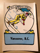 Travel Decal Vancouver BC Best in Winter Sports Skiing - Circa: 1950s - 1960s