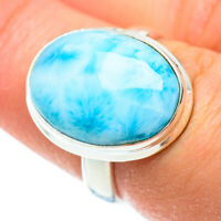 Larimar 925 Sterling Silver Ring Size 7.5 Ana Co Jewelry R52391F