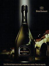 Publicité Advertising 109 2009  champagne Dom Ruinart