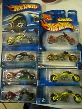 Hot Wheels lot of (8) Blast Lane Motorcycle types! All Different