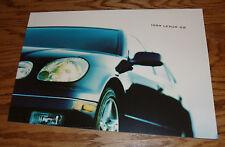 Original 1999 Lexus GS Deluxe Sales Brochure 99 300 400