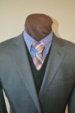 Michael Kors mens 2btn medium gray striped 100% wool suit sz 42Long pants 36x34