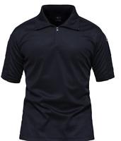 TACVASEN Men's Tactical Performance Polo Short Sleeve 1/4 Zip Hiking Tee 2XL