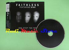 CD Singolo FAITHLESS FEAT. DIDO ONE STEP TOO FAR 2002 ITALY VVR5019873 (S16**)