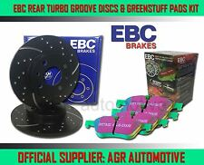 EBC Hinten GD Discs Greenstuff Bremsbeläge 280mm für Volvo c30 2.4 TD 180 BHP 2007-13