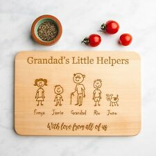 Family Member Personalised Engraved Wooden Chopping Board | Birthday Gifts