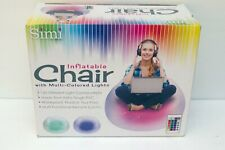 NEW Sealed Simi Inflatable Chair w/Multi-Colored Lights and Remote -Relaxing