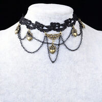 Vintage Retro Gothic Steampunk Lace Handmade Flower Choker Necklace Jewelry WB