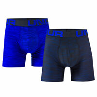 Mens Under Armour Tech 6� Boxerjock 2 Pack In Blue- Fitted Design- Material