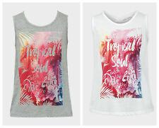 Girls Vest Top Kids Tropical Vibe Minoti Brand Sleeveless T-Shirt New Age 8-13