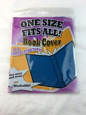 Its Academic Stretchable One Size Fits All Book Covers Fabric Blue Reusable