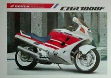 Prospectus Catalogue Brochure Moto Honda CBR 1000 F 1989 English