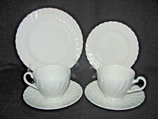 Johnson Brothers Snowhite Regency Salad Plate Bread Plate 2 Cups and 2 Saucers & Regency Johnson Brothers China u0026 Dinnerware | eBay