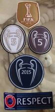 Set Of 2015 UEFA FIFA World Champions League Trophy 5 Patch Badge For Barcelona