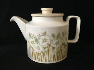 Vintage Hornsea England Fleur Large Teapot With Lid