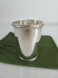 PREMIUM Heavy Chicago Silver Co. Sterling Mint Julep Cup & Jewelers Pouch c1930s
