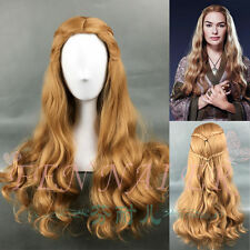 Long Wavy Curly Brown Game of Thrones Cersei Lannister Full Anime Cosplay Wigs