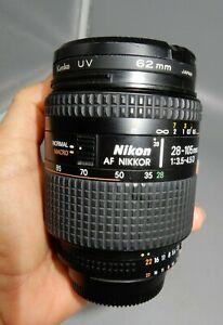 Nikon AF Zoom Nikkor 28-105mm f/3.5-4.5 D macro FX lens