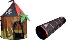 Pop Up Tenda Casa Giochi Pirata Cabina Bambini Al Chiuso All'Aperto Tunnel
