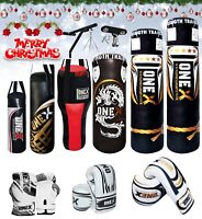 17pcs 3ft Punch Bag Boxing Gloves Heavy Training Duty Fitness Cardio Exercise