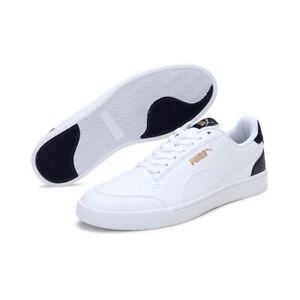 Puma Homme Shuffle Baskets Mode Blanc - Couleur Peacoat - Or