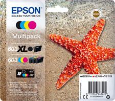 Original Epson Multipack Schwarz / Cyan / Magenta / Gelb C13T03A94010 603XL/603