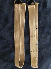 Men's Beige Adjustable Canvas Belts Set of 2 Casual Accessories