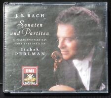 CD Bach Partitas et sonates violon Itzhak Perlman 2 x CD NM-, BX NM
