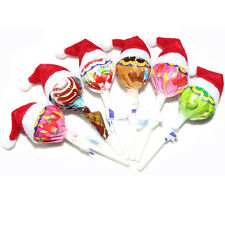 6PCS Cute Mini Santa Claus Hat Christmas Xmas Holiday Lollipop Top Topper Decor