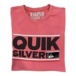 Quiksilver Mens Boardriders Quiksilver Logo T-Shirt Size Large Free Shipping