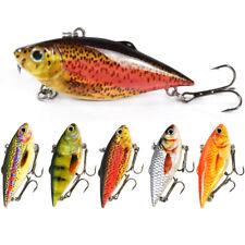 "2.5"" 8.6g VIB Fishing Lure Sinking Hard Plastic Bass Fish Bait Rattle Tackle"