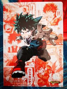 My Hero Academia Gekitotsu Heroes Illustration BD pochette Clear File A5 Izuku