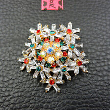 Charm Rhinestone Women Brooch Pin Betsey Johnson Exquisite Crystal Snowflake