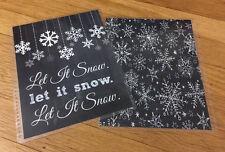 Chalkboard Let it Snow Xmas Front/Back Cover Set 4 use w Erin Condren Planner