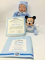 Baby Doll and Mickey Mouse Ashton Drake Disney Babies in Dreamland COA NIB 1998