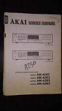 Akai am-a102 a202 a302 a402 service manual original stereo amp amplifier