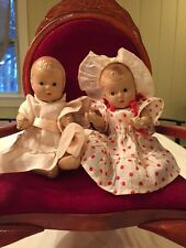 2 Dionne Quintuplet -Madame Alexander Dolls Composition Baby Dolls/ 8inch