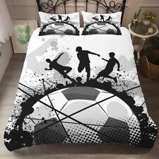 Football Soccer Quilt Duvet Doona Cover Set Sports Kids Bedding Set All Sizes