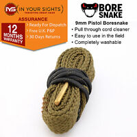 9mm .357 .38 .380 Calibre Bore Snake 9mm pistol boresnake pull through cleaner
