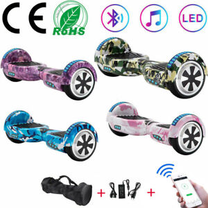 """Electric Scooters 6.5"""" Hoverboard 2 Wheels Self-Balancing Scooter Bluetooth+Bag"""