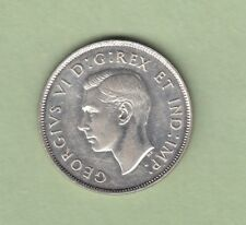 1944 Canadian 50 Cents Silver Coin - AU